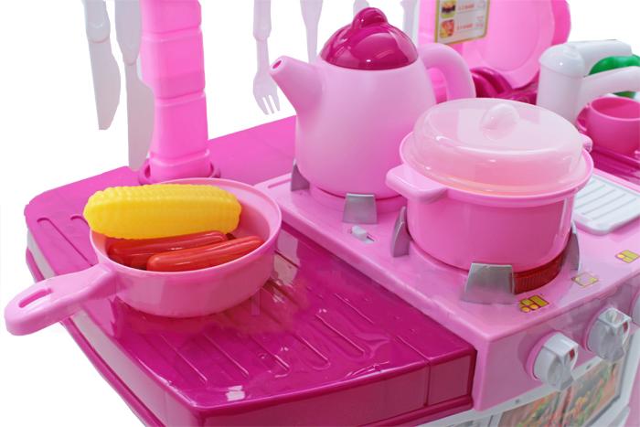 rosa kinderk che spielk che spielzeug kinder k che mit zubeh r super geschenk ebay. Black Bedroom Furniture Sets. Home Design Ideas