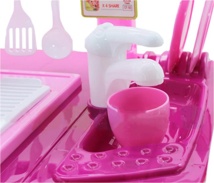 Rosa Kinderküche Spielküche Spielzeug Kinder Küche Mit .