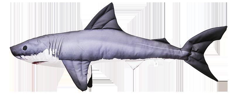 Fisch Kissen Modell: WEIßE HAI