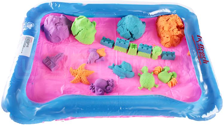 aufblasbarer sandkasten sand kinetisch 2 kg kinetischer sand magischer ebay. Black Bedroom Furniture Sets. Home Design Ideas