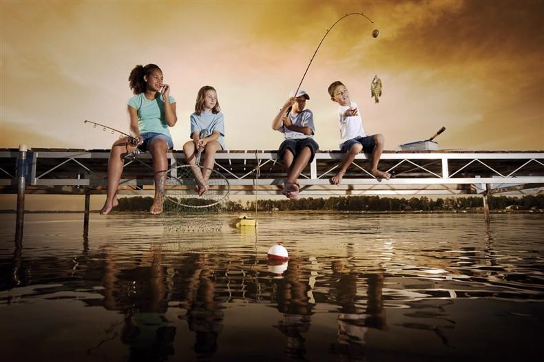 YORK Kinder Angel Set mit Rute Rolle Schnur Haken für Anfänger !